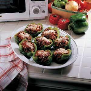 Stuffed Green Pepper Cups Recipe Stuffed Peppers Stuffed Green Peppers Food Recipes