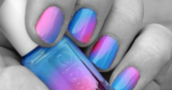 Cotton candy swirl nails. Where do they sell this Essie color? I've