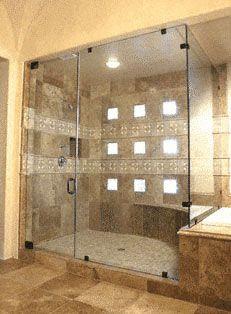 Framelesssteamwithclips Jpg Shower Doors Traditional Bathroom
