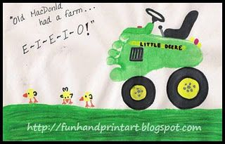 Farm Craft ~ Footprint Tractor & Thumbprint Chicks Fun