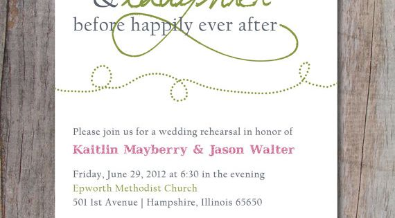 """Happily Ever After Wedding Invitations: Rehearsal Dinner Invitations, """"love And Laughter Before"""