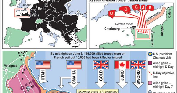 d day beach landings map