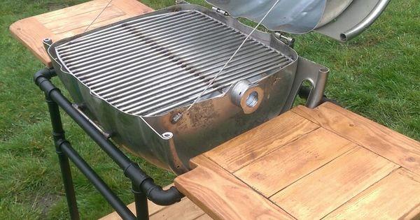beer keg bbq made from beer keg 3 4 pipe and pallet wood d co pinterest mobilier de. Black Bedroom Furniture Sets. Home Design Ideas