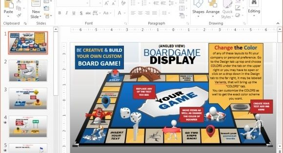 Powerpoint Board Game Template Animated Board Game Powerpoint Template Ideas Board Game Template Powerpoint Game Templates Powerpoint Games