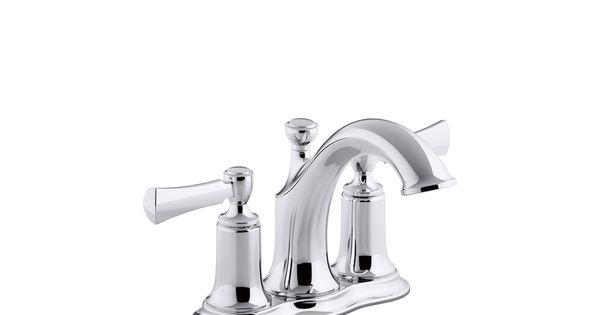 KOHLER Elliston Polished Chrome 2-Handle 4-in Centerset Bathroom Sink ...