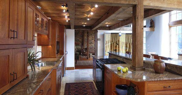 House kitchen in a remodeled pre civil war barn kitchen for Civil kitchen designs