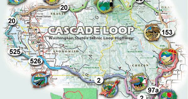 highlights and best stops along the beautiful cascade loop drive