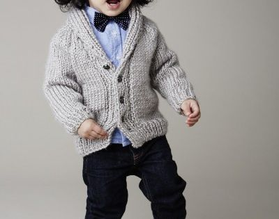 Fast and easy baby / toddler sweater to knit Shawl Collar Cardigan - #free #p...