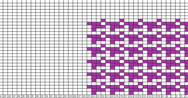 Tricksy Knitter Charts: houndstooth check Knitting - Color work Pinterest...