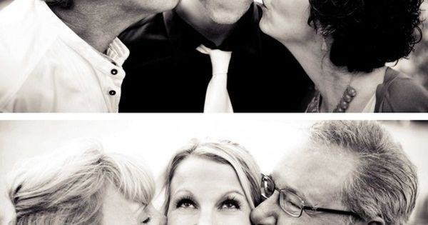 Wedding day pictures with mom and dad! If only my parents could