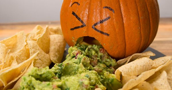 Jack O Lantern Chips And Dip Recipe Chip Dips Appetizer Dips And Dips
