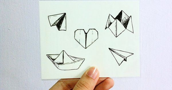 Temporary tattoos set of 5 designs paper boat for Temporary tattoo tracing paper