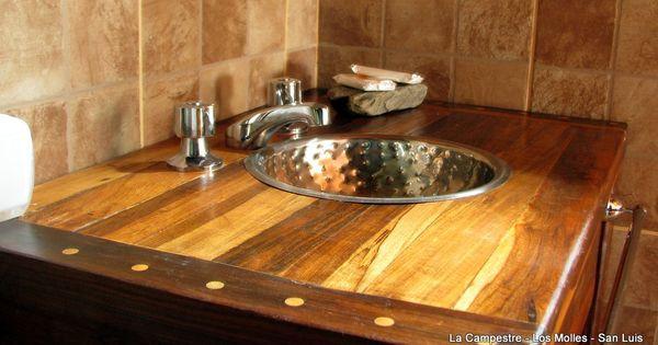 Muebles rusticos con madera reciclada vanitory ba o for Banos rusticos con encanto