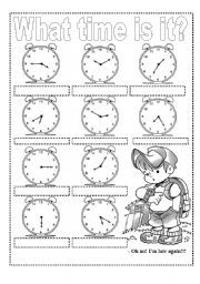 What Time Is It English Worksheets For Kids Exercise For Kids Telling The Time Exercises