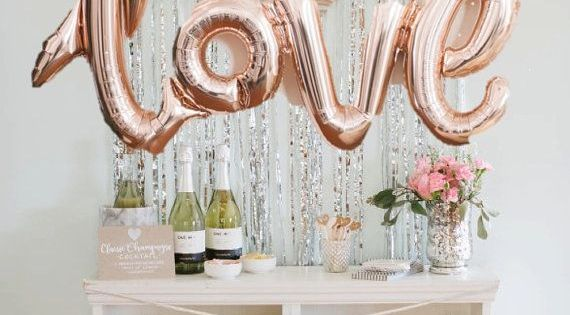 Rose Gold LOVE Balloon | Bridal Showers | Pinterest | Rose ...