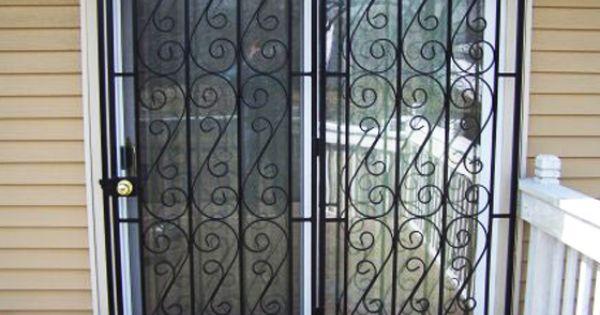Patio door security gate glassessential home