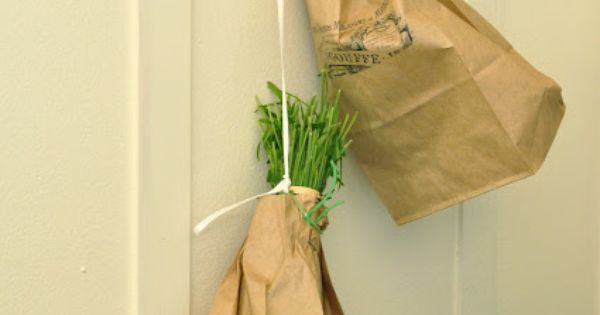 Drying Lavender PINNER SAID: I love this paper bag idea! I work