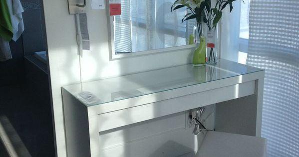 Ikea vinstra vanity table - Ikea Malm Dressing Table Dressing Room Pinterest