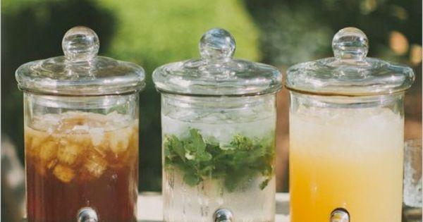summer wedding drink station ~ we ❤ this! moncheribridals.com summerweddingdrinks