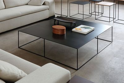 Zeus Slim Irony Coffee Table Black Made In Design Uk Table De Salon Design Meuble Table Basse Table Basse