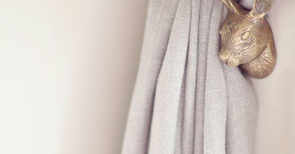 Rabbit Tie Backs Your Anthropologie Favorites Pinterest Barnrum Gardiner Och Inredning