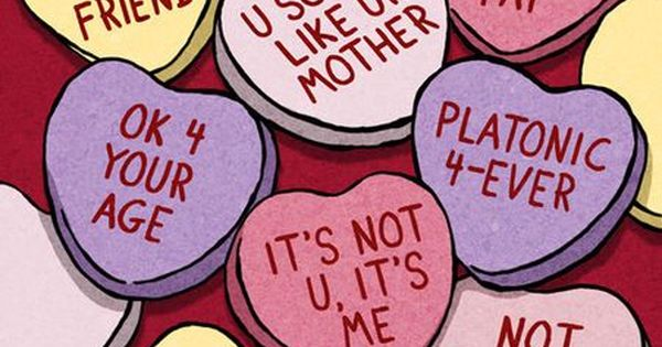 Dysfunctional Valentine hearts. Funny.