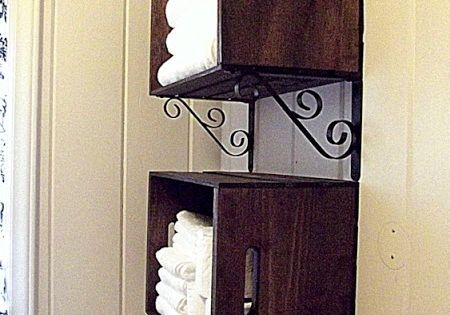 DIY: Pretty Crate Wall Storage @Dianne Kirsch Kirsch Kirsch Miller this would