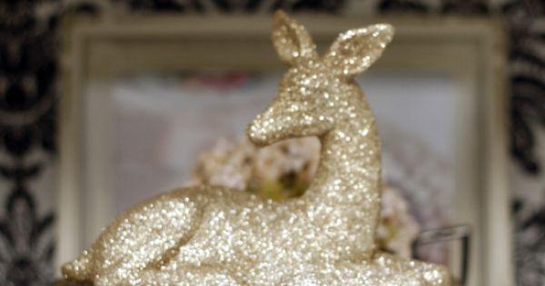 "Glittered animals - Krylon makes a fabulous ""Glitter Blast"" Spray. It is"