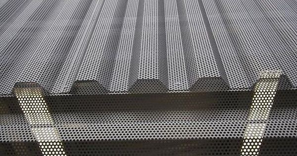 Corrugated Metal Panel Architectural Details : Corrugated architectural metal siding perforated