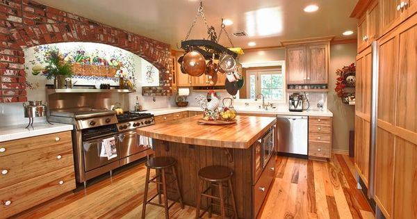 Nice country island kitchen in a classic california ranch for Cal s country kitchen