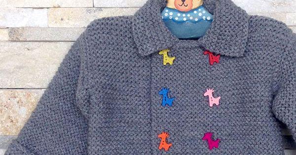 Resultado final un abrigo de lana para beb lanas y - Lanas y punto ...