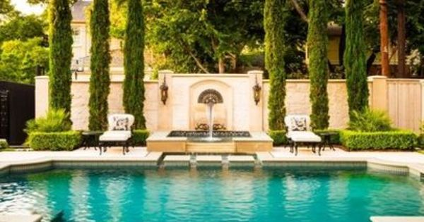 Pools italian cypress trees google search landscaping for Italian pool design 7