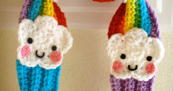 Crochet Hello Kitty Cupcake Scarf PATTERN PDF by ...