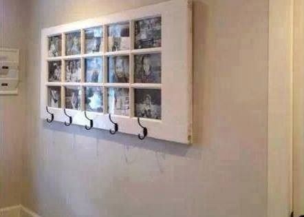 Awesome way to reuse an old door. Unique picture frame. DIY
