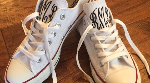 Monogrammed Converse Shoes by HoneyHushEmbroidery on Etsy | See more about Converse Shoes, Converse and Shoes.