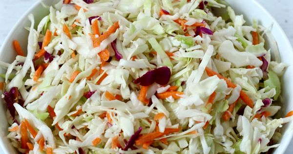 Easy no-mayo coleslaw | Recipe | Tacos, Apple cider and