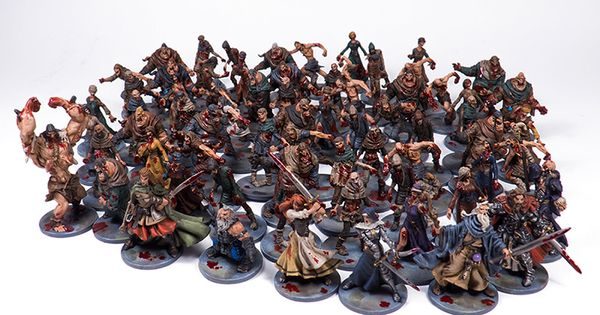 Image result for zombicide painted miniatures black plague