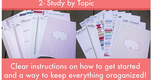 Build your own scripture study kit! There are two kind - study