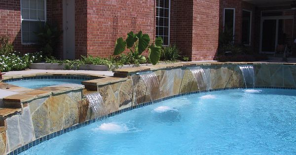 Cascade Waterfall Built By Blue Haven Pools Oklahoma City