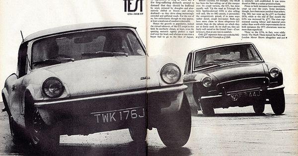 Mgb Gt Triumph Gt6 Twin Road Test 1971 1 Triumph Spitfire Road Test Triumph