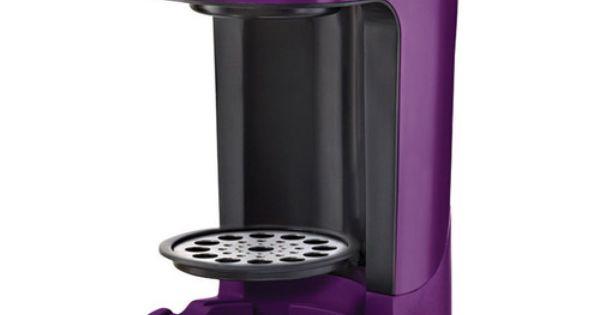 Bella One Cup Coffee Maker Turquoise : Purple Coffee Maker Sensio Bella Single Brew Coffee Maker, Purple, BLA13783. purple kitchen ...