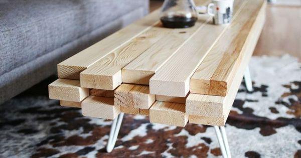 diy fabriquer une table basse avec des planches de. Black Bedroom Furniture Sets. Home Design Ideas