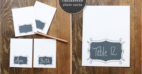 DIY chalkboard placecards