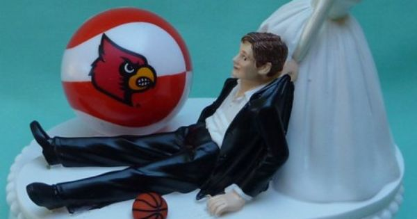 wedding cake toppers louisville ky louisville cardinals basketball themed wedding 26527