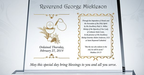 Pastor Ordination Gifts & Sample Congratulation Wordings ...