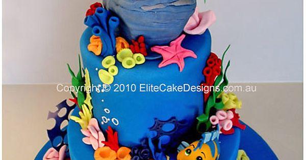 Little Mermaid Birthday Cake.