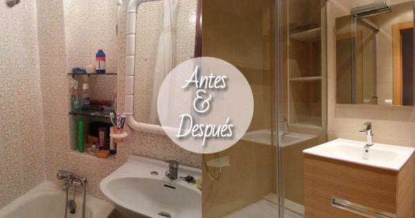 Reforma ba o antes despu s ducha y lavabo antes y - Reformas banos badalona ...