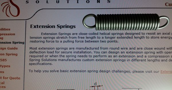 Http Optimumspring Com Products Extension Springs Aspx