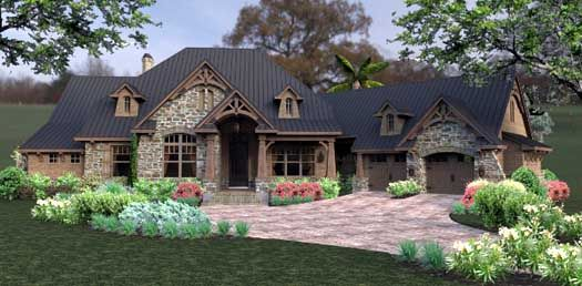 Style House Plans 2466 Square Foot Home 1 Story 3 Bedroom And 2 Bath 2 Garage Stalls By Craftsman House Plans Craftsman House Craftsman Style House Plans