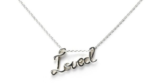 'Loved' Pendant Necklace. So cute!